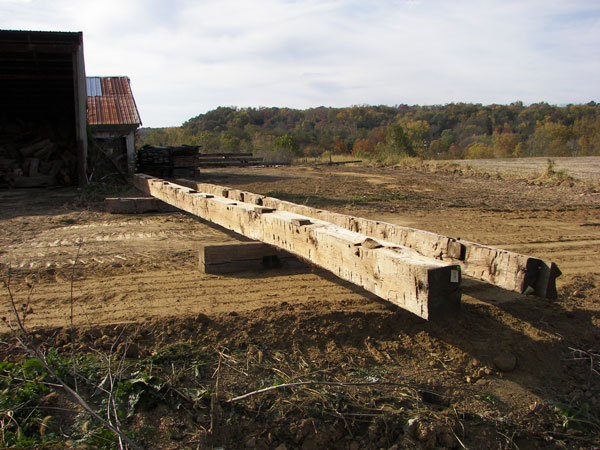 10 x 14 x 40 ft + hand hewn masters