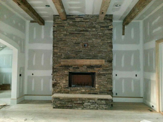 8 x 8 hand hewn beams 26 ft long, hand hewn mantel to match