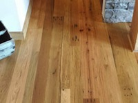 Barn wood Floor, Mixed Oak; 3-4-5 inch faces, Timber Frame home