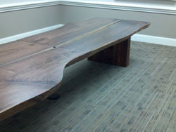 4 walnut slabs 3 inches thick, make 16 ft long conference table