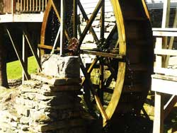 Working water mill , circa 1790, Traphill NC, Chestnut flooring , lumber supplied to rebuild mill