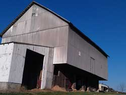 Massive 3 story white oak barn, Metal siding, protected every board