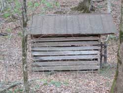 Log corn crib, Would make a great garden shed